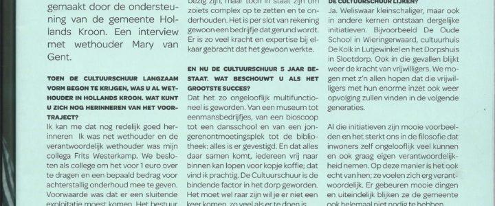 Mary van Gent – 'Cultuurschuur is de bindende factor in het dorp geworden'